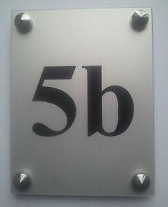 Plaque de numéro de rue Plaque de rue personnalisée en aluminium anodisé