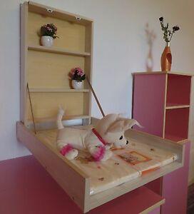 Table à Langer Murale étagère à à Blanc Rose Matelas à Ebay