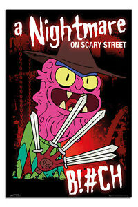 Rick-And-Morty-A-Nightmare-On-Scary-Street-Poster-New-Maxi-Size-36-x-24-Inch