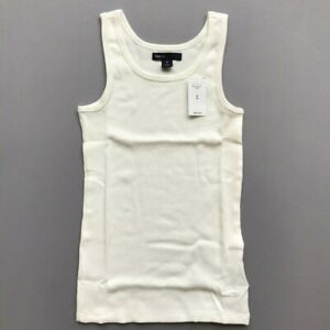 GAP-KIDS-GIRL-039-S-Cotton-Tank-Ribbed-White-Size-M-8-Great-Basic-NWT