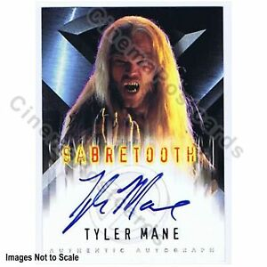 X-Men-1-Movie-Tyler-Mane-Daryl-Karolat-Sabre-Tooth-Marvel-Autograph-Trading-Card