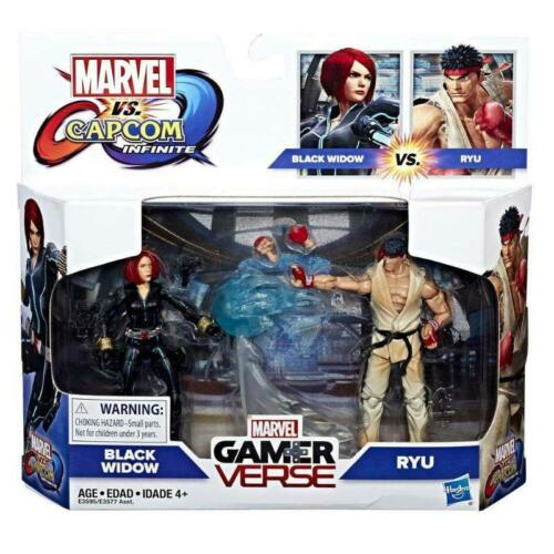Marvel gamerverse Black Widow /& Ryu 2PK figura Set