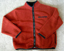 VTG AMERICAN EAGLE PERFORMANCE sz M SHERPA FLEECE zip front jacket long sleeve