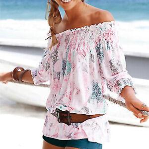 wow-genial-gebluemt-Carmen-TUNIKA-Gr-32-34-36-luftig-Bluse-TOP-Viscose-Strand