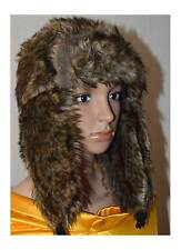 North Star Faux Fur Trapper Hat Adult One Size With Quilted Lining