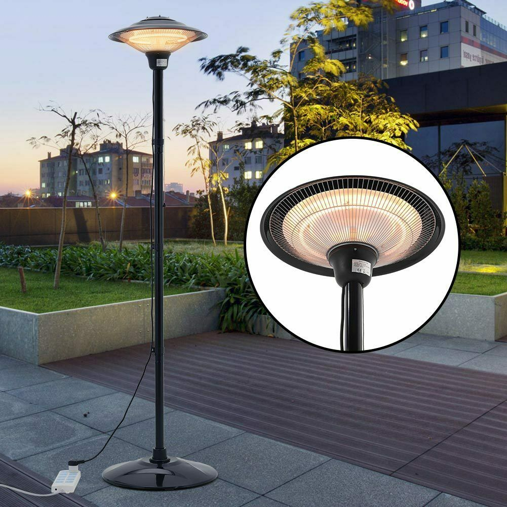 1.5KW Free Standing Patio Electric Quartz Heater Outdoor Warmer Garden Infrared