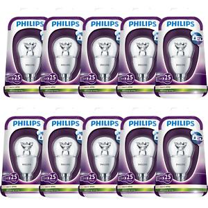10 x DEL PHILIPS Ampoules e14 douille chaud blanc 250 lm 2700 Kelvin Bon état 3 W