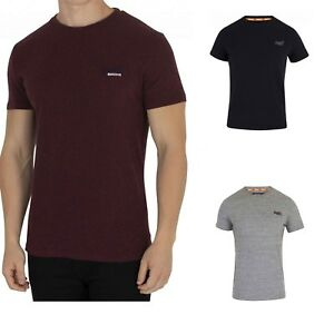 New Super Dry Men's Athletic Vintage Embroidery Short Sleeve Crew Neck T-shirt Blanc De Jade