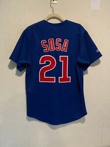 Majestic-Sammy-Sosa-Chicago-Cubs-Stitched-Jersey-MEDIUM-Men-039-s-On-Field-Vintage