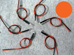 U-S-Seller-5pcs-ORANGE-3mm-Pre-Wired-LED-Light-5v-13V-DC-Lamp-Bulb-LED