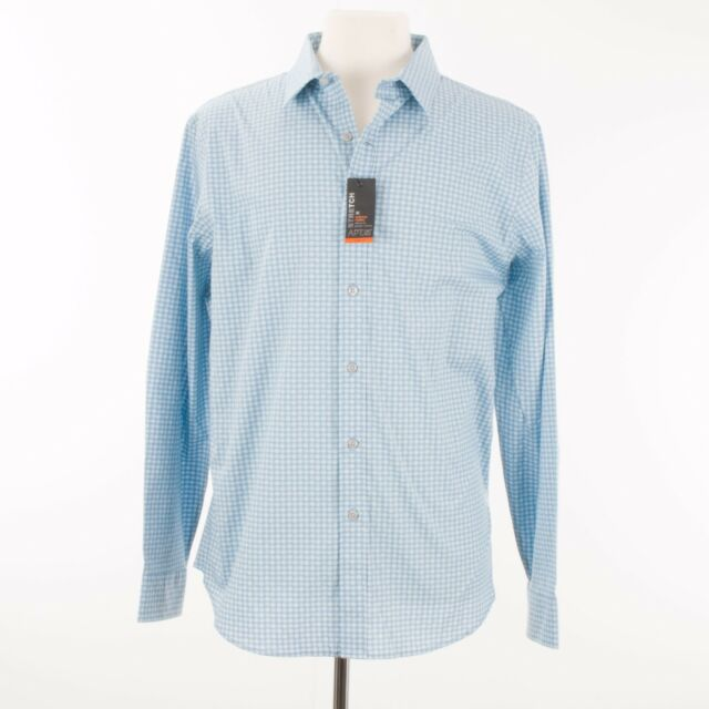 3b73dd390 Apt. 9 Men Shirt Size Large Blue White Button Down Slim Fit New with Tags