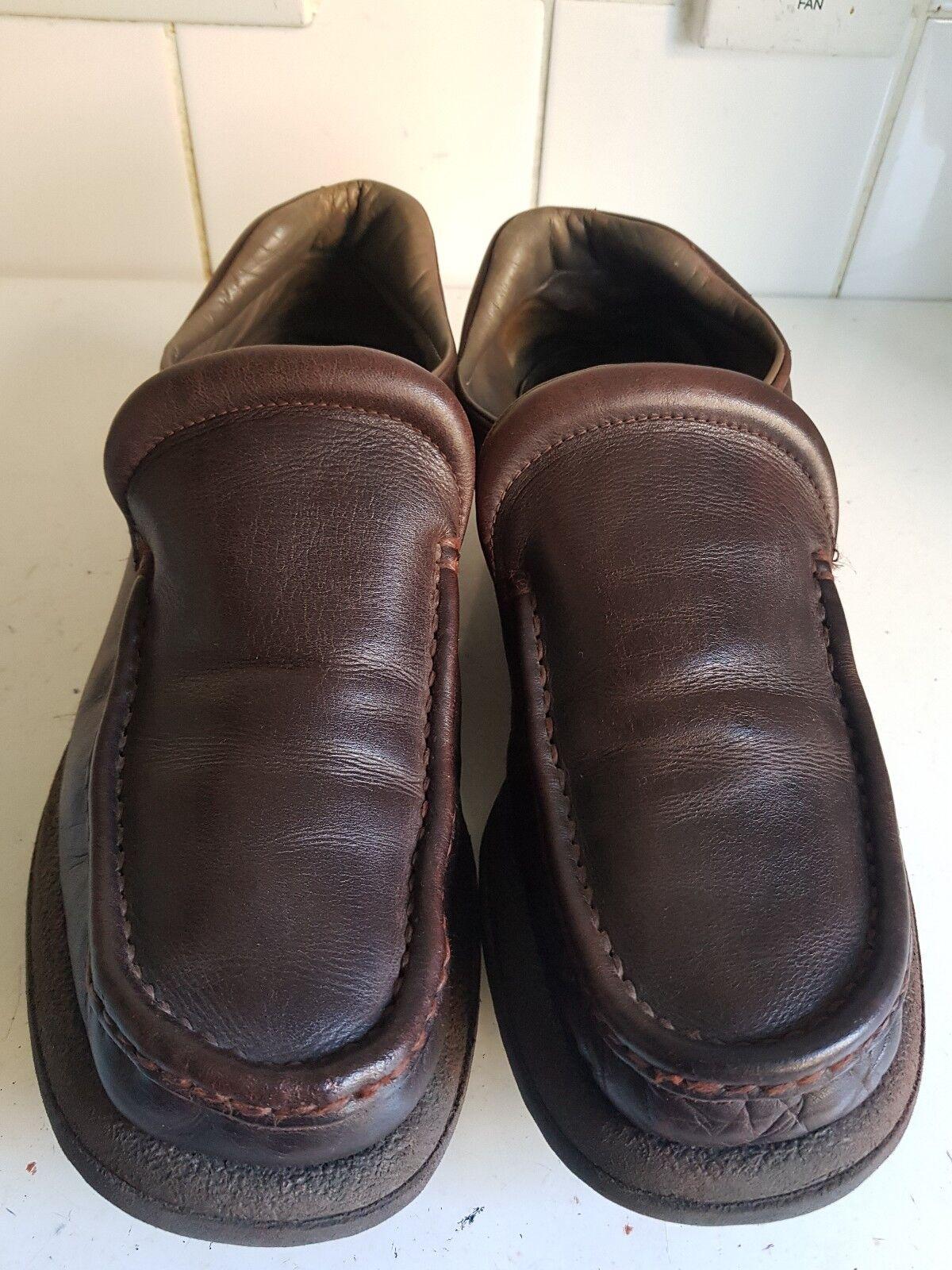 PAUL SMITH DESIGNER  Herren Schuhe LEATHER BROWN MOCCASINS LOAFERS Schuhe Herren SIZE UK 9 EU 43 5a162d