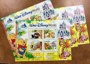 {BJ Stamps} CANADA # 1621b 1996 WINNIE THE POOH (WALT DISNEY) S/S lot of 10 MNH