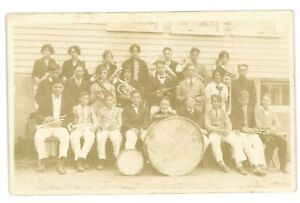 RPPC-Vocational-School-Band-THOMPSON-PA-Susquehanna-County-Real-Photo-Postcard