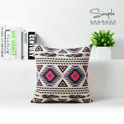 Hot Aztec Bohemia Geometric Abstract Cotton Linen Pillow Case Cushion Cover