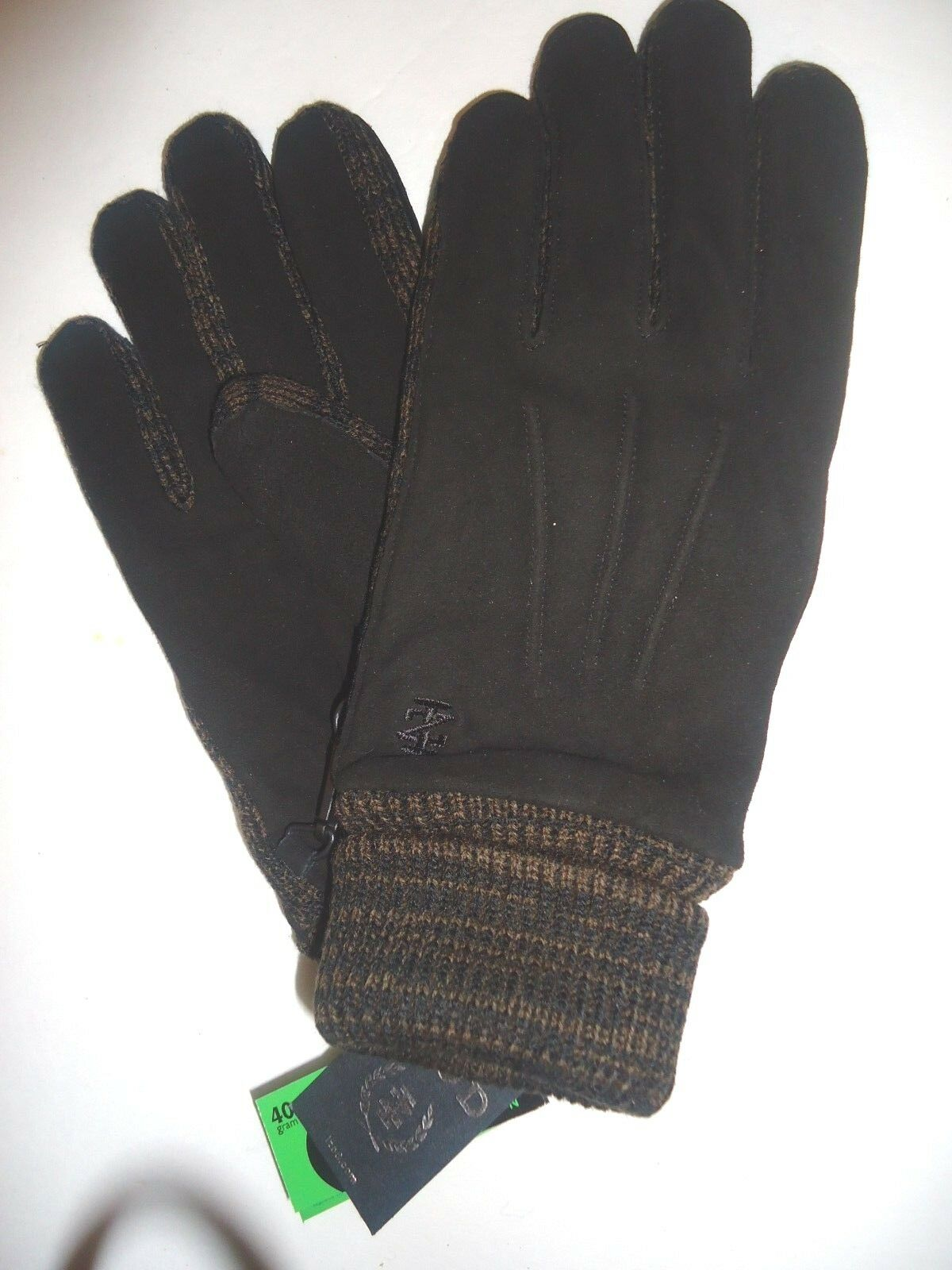 Mens leather gloves xl - Mens Izod Insulated Genuine Leather Gloves L Black
