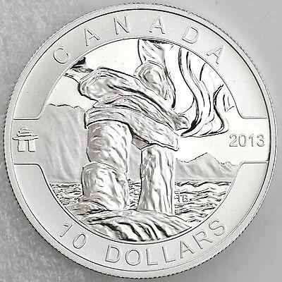 2013 O Canada Series $10 Fine Silver Inukshuk