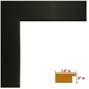 "US Art Frames 1.25"" Flat Black Matte Finish Geo friendly MDF Picture Frame S-B"