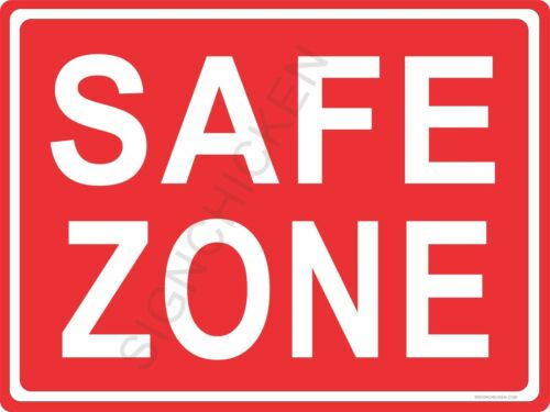 retail office signs business aluminum sign security safety signs SAFE ZONE