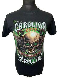 Carolina Rebellion 2017 Monster Energy Concert Gig Black Tee T-Shirt S VGC