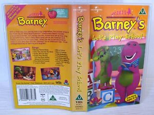 Barneys-Lets-Play-School-Vhs-Tape-amp-Case-Cert-U-Collectable-VHS