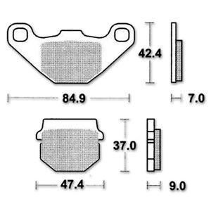 Lucas TRW Bremsbelag MCB 663 Satz EC Standard ABE Miniscooter Organisch Motorrad