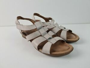 Diana-Ferrari-SUPERSOFT-Taupe-FARLEE-leather-Sandal-Low-Heel-Women-039-s-Size-US-8C
