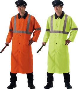 Image is loading Reflective-Hi-Vis-High-Visibility-Reversible-Rain-Police- 7795cac5330