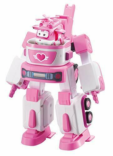 Deluxe Transforming VehicleSeries 2Dizzy Pink and White. Super Wings