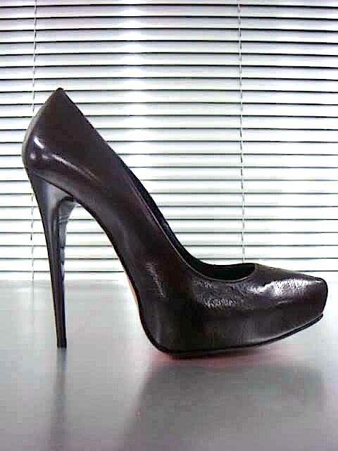 Descuento barato MORI ITALY PLATFORM HIGH HEELS PUMPS SCHUHE SHOES REAL LEATHER BROWN MARRONE 38