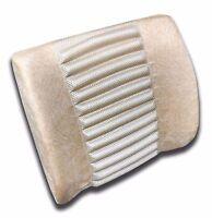 Beige Lumbar Support Cushion Pillow Chair Comfort Car Office Travel Relief - 1pc