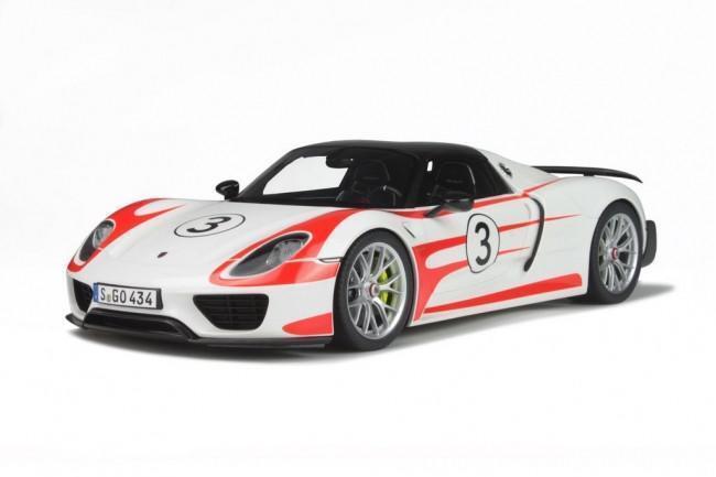 nueva marca GT Spirit Porsche  Spyder Weissach Package 1:12 Blanco Blanco Blanco  Rojo  online barato