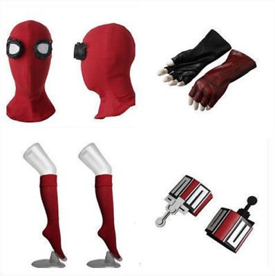 Movie Spider-Man:Homecoming 2017 Spider Man Mask Gloves Stockings Web Shooters