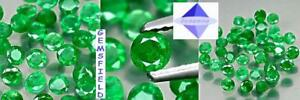 Vvs-vs - Emeraudes De Colombie - Paire Brillants 3,5mm Vert Tropical - Poli Aaa Weqoe6jx-07220220-882415936