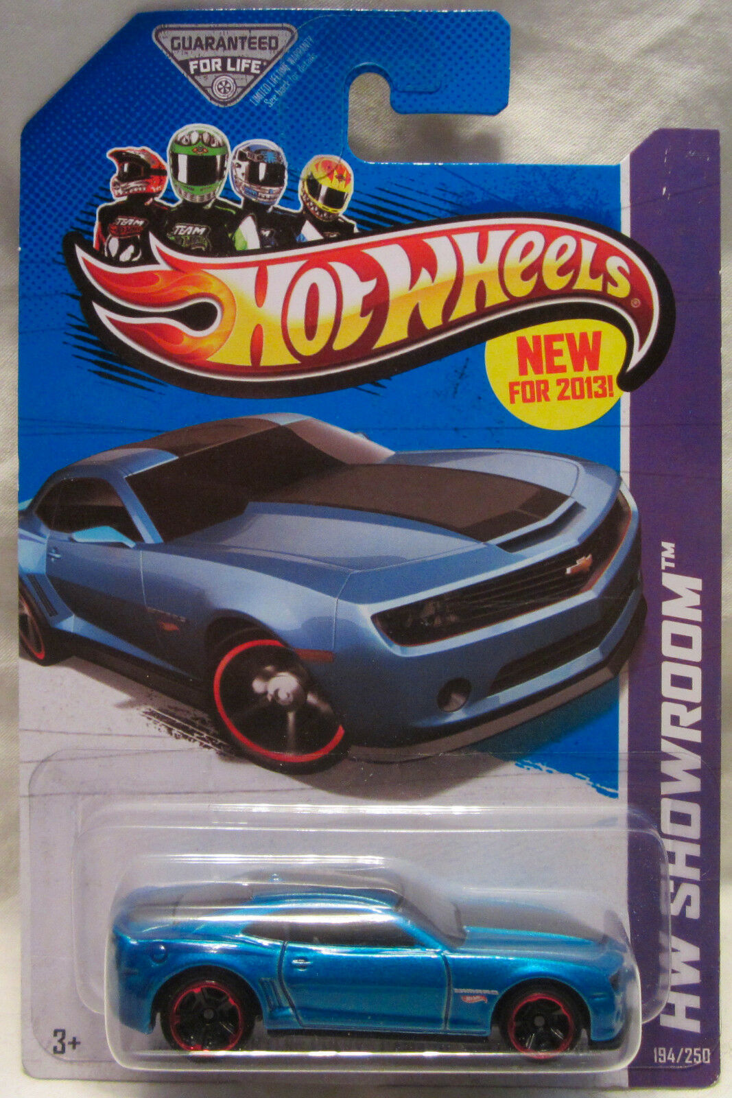 2013 Hot Wheels bluee Chevy Camaro Special Edition 194 250 - NEW