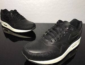 Details about Nike Air Max 1 Leather PA Stingray Pack Size 10.5 Black Sea Glass 705007 001