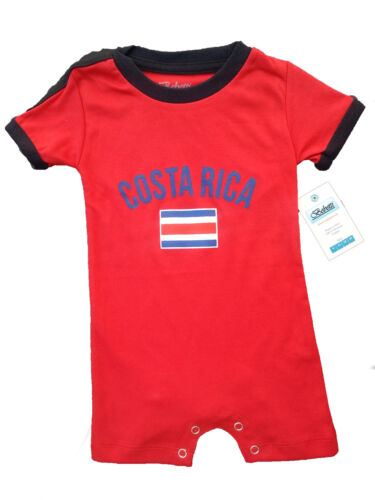 Costa Rica World Cup Jersey Soccer Football Baby/Toddler Unisex One-Pieces Flag