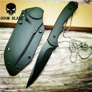 Fixed-Blade-Knife-G10-Handle-Tactical-Camping-Surviving-Knife-amp-ABS-Sheath-Knives