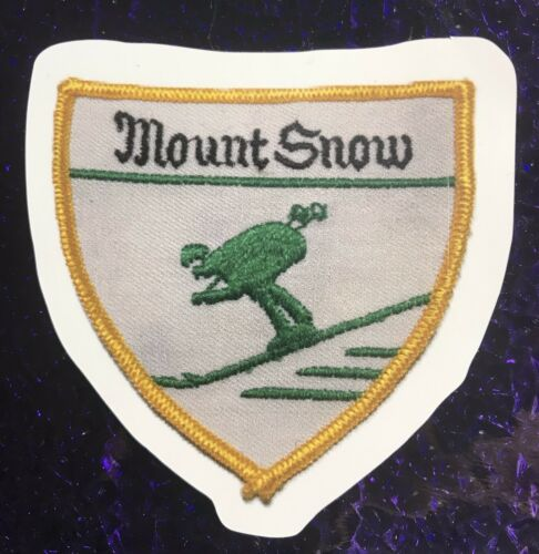 Mt DECAL Made From Image Of Vintage Ski Patch Snow VT STICKER