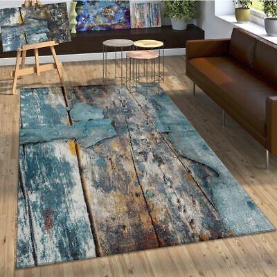 modern brown blue living room