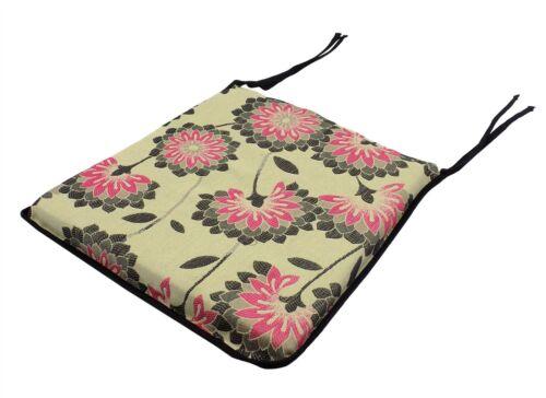 Moderne Layla Floral profonde zippée rose noir assise coussin 42 x 37 cm