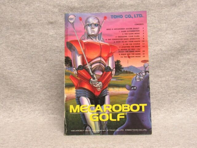 MECAROBOT GOLF Manual, no game SNES SUPER NINTENDO