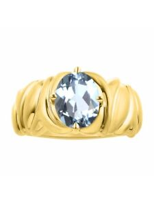 Color Stone Birthstone Ring Solitaire Citrine Ring Set In Yellow Gold Plated Silver