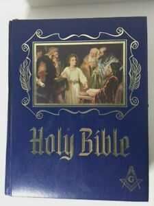 Holy-Bible-Master-Reference-Red-Letter-Edition-Masonic-Heirloom-Signed-1984