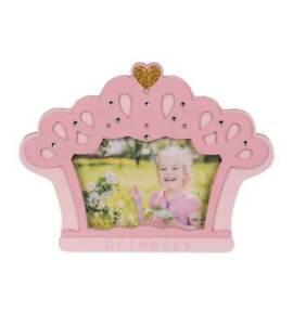 Details Zu Prinzessin Krone Holz Bilderrahmen Rosa 10x15 Cm Glitzer Kinder Foto Rahmen