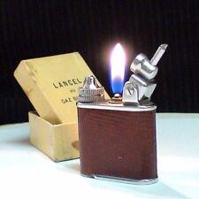BRIQUET Ancien @ LANCEL Gaz Automatique + sa Boite @ Lighter Feuerzeug Accendino