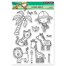 PENNY BLACK RUBBER STAMPS CLEAR MIMI SAFARI STAMP SET
