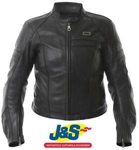 Details About Ixs Annie Ladies Leather Motorcycle Jacket Biker Womens Black Was 240 J S Sale