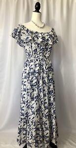 Grace-Elements-Ruffled-Off-The-Shoulder-Cotton-Dress-Women-s-Size-XL