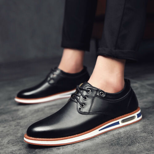 Mens Business Casual Shoes Oxford Lace Up Round Toe Stylish Bristish Style C881
